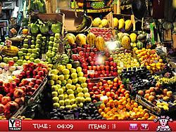 Hidden objects Fruits Shop