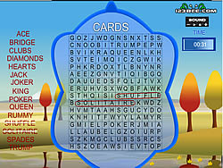 Word Search Gameplay 4 – Cards