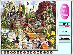 Garden and animal hidden numbers