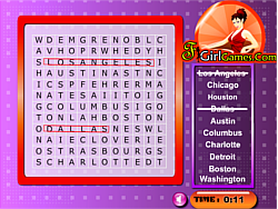 Cities In America Word Search